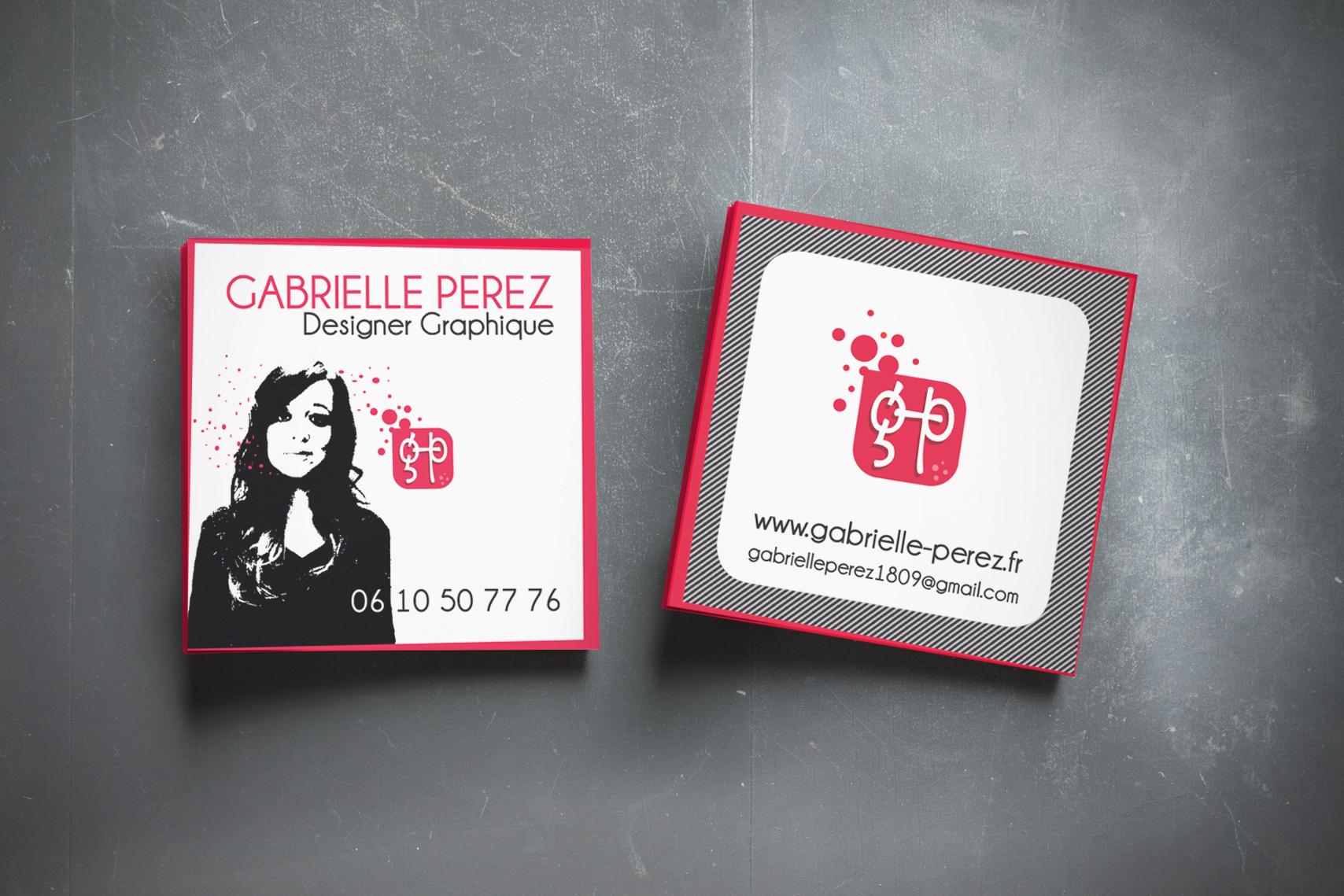 Carte Visite Gabrielle Perez